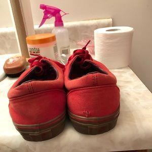 Vans Shoes - Red low top vans